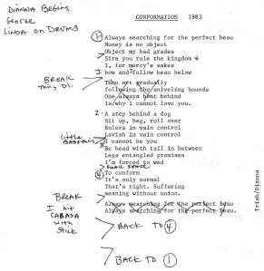 "Lyrics to ""Conformation"""