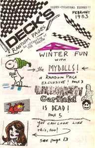 Decks Fanzine Cover, Feb. 1983