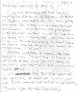 Letter From Lyle Preslar (Minor Threat!)