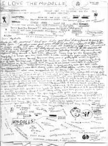 Mydolls Fan Letter, Front Side