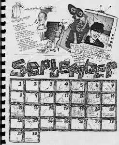 Mydolls Calendar, September