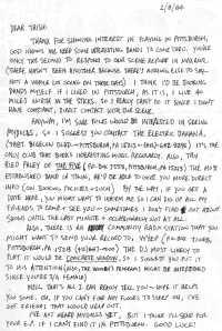 Fan Letter from Pittsburgh