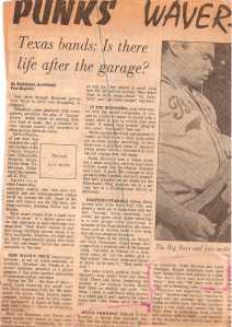 Houston Post Article, Oct. 6 1980!