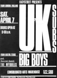 With the Big Boys, UK Subs