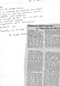 Letter from the Wicked Wolves, George Newspaper Article
