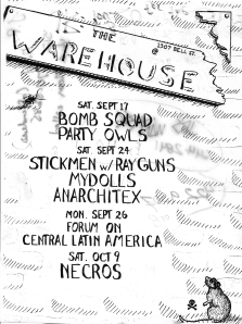 Warehouse Calendar Flyer, courtesy JR Delgado