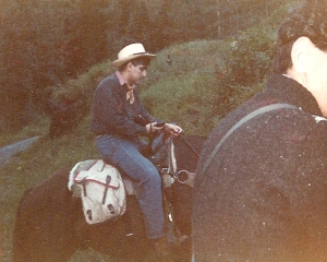 George Riding a Horse in Telluride