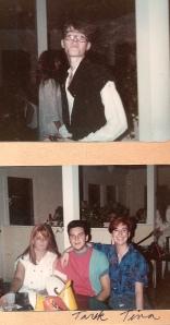 John (top), Tarik and Tina (below)