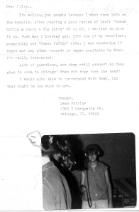 Letter from Leon, with photo